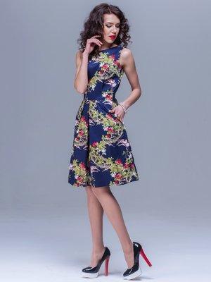 Платье синее в цветочный принт   1678764