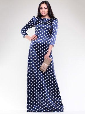 Сукня темно-синя в білий горох | 1679649