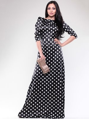 Сукня чорна в білий горох   1679650