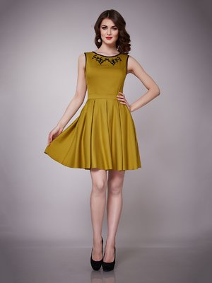 Платье желто-зеленое | 1695043