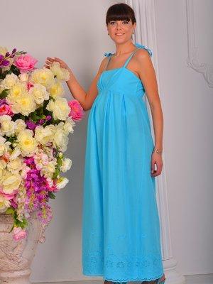Сарафан голубой с вышивкой   1659262