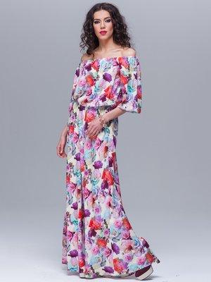Сукня молочного кольору в квітковий принт | 1707523