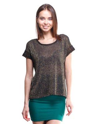 Блуза черно-золотистая с люрексом | 1443489