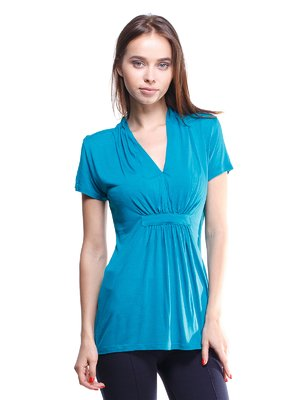 Блуза бирюзовая со сборками | 301280