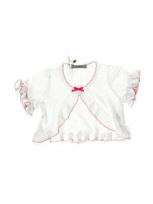 Болеро біле з рожевим оздобленням | 1692980
