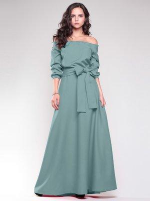 Платье оливкового цвета | 1741593