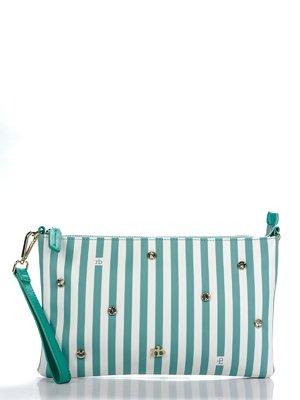 Клатч зеленый в полоску | 1738571