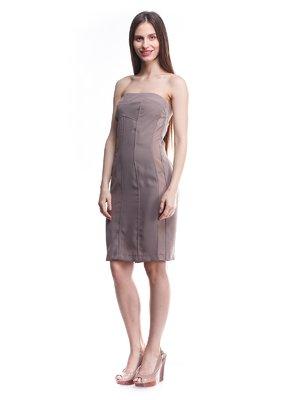 Сукня-бюстьє кольору фанго | 1476939