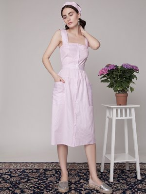 Сарафан розовый в полоску | 1745289