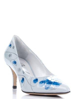Туфли бело-голубые | 1751662