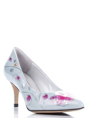 Туфли серо-малиновые | 1751658