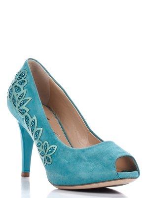Туфли зеленые с декором | 1751751