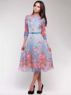Платье в цветочный принт | 1754216