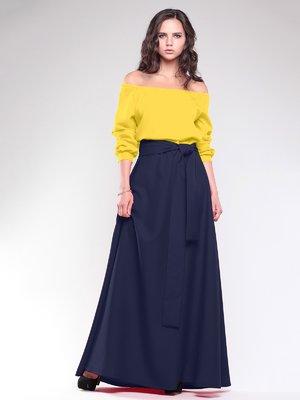 Платье желто-синее | 1754279