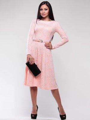 Платье персикового цвета в принт | 1763007