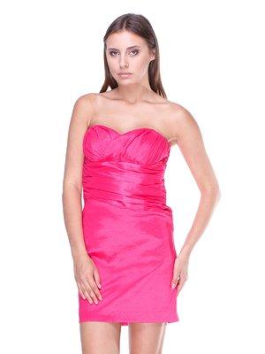 Платье-бюстье розовое | 983014