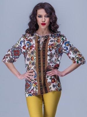 Блуза в разноцветный принт | 1769903