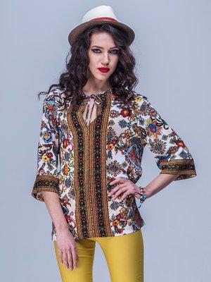 Блуза у різнобарвний принт | 1774180
