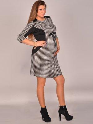 Платье черно-белое в гусиную лапку   1773106