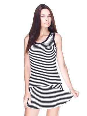 Сукня чорно-біла в смужку   1779864