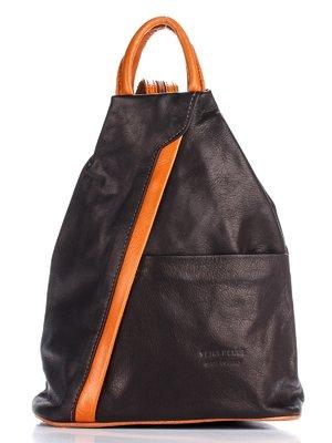 Рюкзак чорний з контрастним оздобленням | 1781276