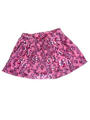 Юбка розовая в цветочный принт | 1788482