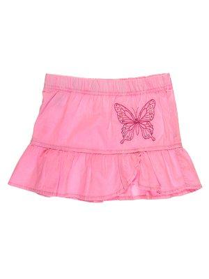 Юбка розовая с декорированной вышивкой | 1788498