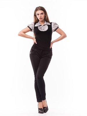 Блуза двоколірна комбінована | 1801110
