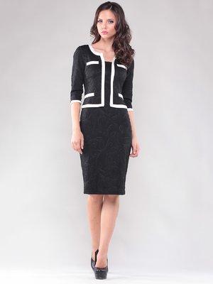 Сукня чорне з імітацією жакета   1801192
