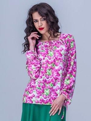 Блуза квіткового забарвлення | 1757043