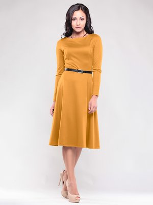 Сукня кольору гірчиці   1717008