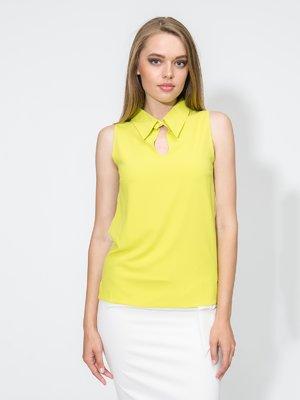 Блуза кольору лайма | 1804952