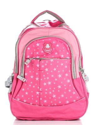 Рюкзак рожевий з принтом і аплікацією | 1818907