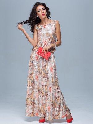 Платье абстрактной расцветки | 1828156