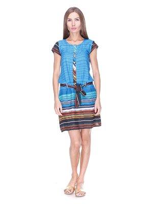 Платье разноцветное в полоску - Play New - 1344286