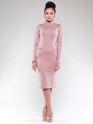 Платье бежево-розовое | 1832245