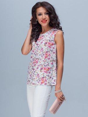 Блуза квіткового забарвлення | 1833446