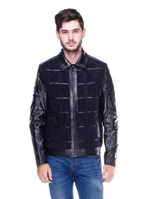 Куртка чорно-синя | 1830326