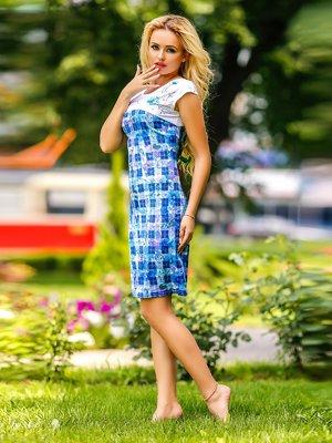 Платье комбинированной расцветки | 1796719