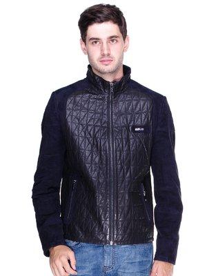 Куртка чорно-синя | 1833591