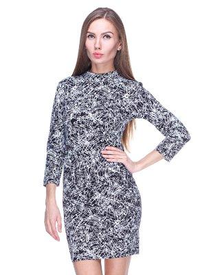 Платье черное в принт - Top Shop - 717365