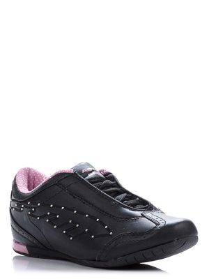 Кроссовки черные декорированные | 38938