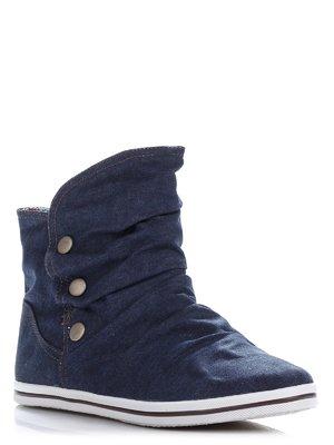 Ботинки синие джинсовые с драпировкой | 363455