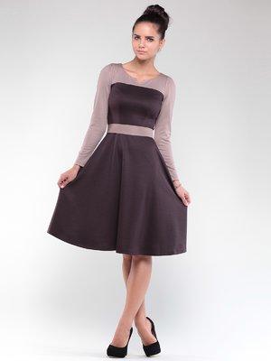 Сукня коричнево-бежеве | 1840483