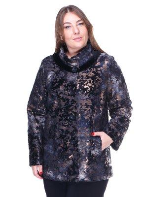 Куртка болотного кольору з принтом | 1848846