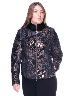 Куртка димчастого кольору в абстрактний принт   1848850
