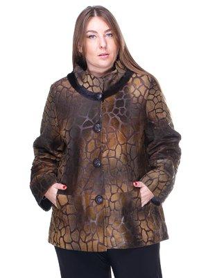 Куртка темно-рудого кольору з малюнком | 1848845