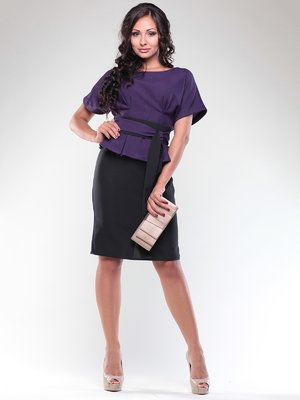 Сукня фіолетово-чорна   1850728