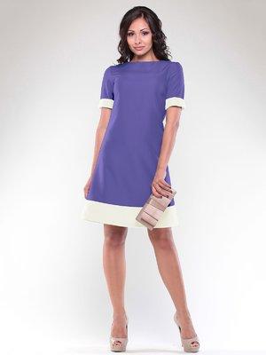 Платье сиренево-белое | 1850747