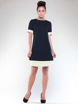 Платье сине-молочного цвета | 1850749